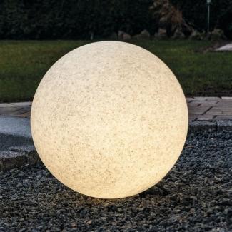 40 Leuchtkugel granit o Garten Kugel Deko sandoptik für außen 20 50 cm