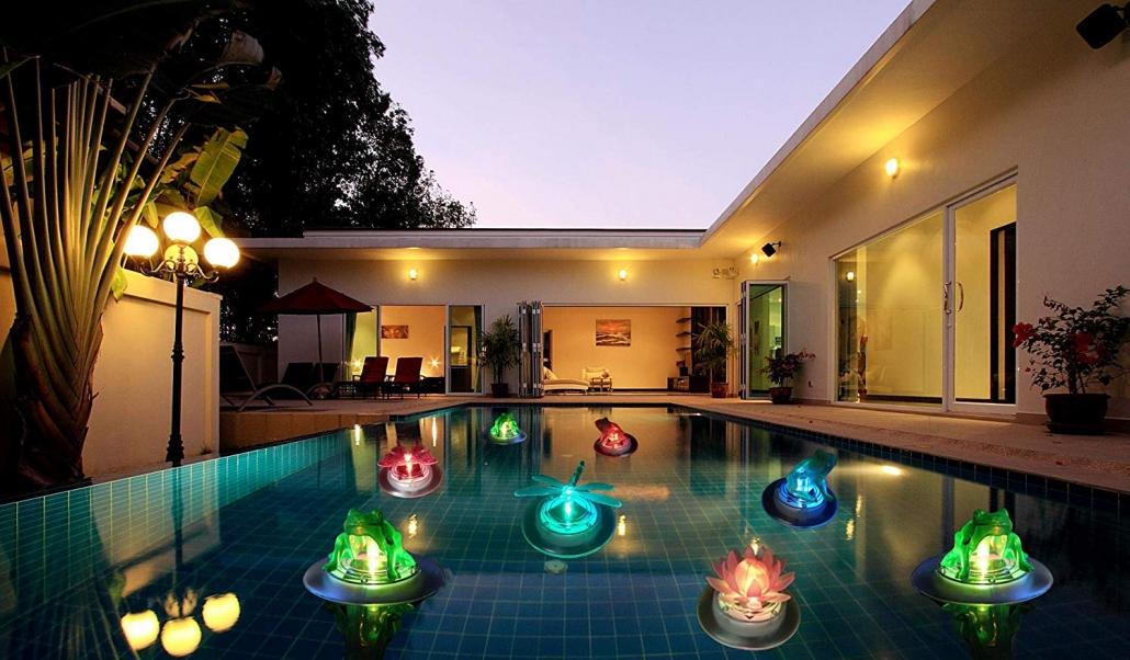 Leuchtkugel für den Teich