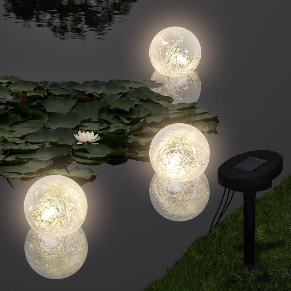Schwimmende LED-Teichkugeln